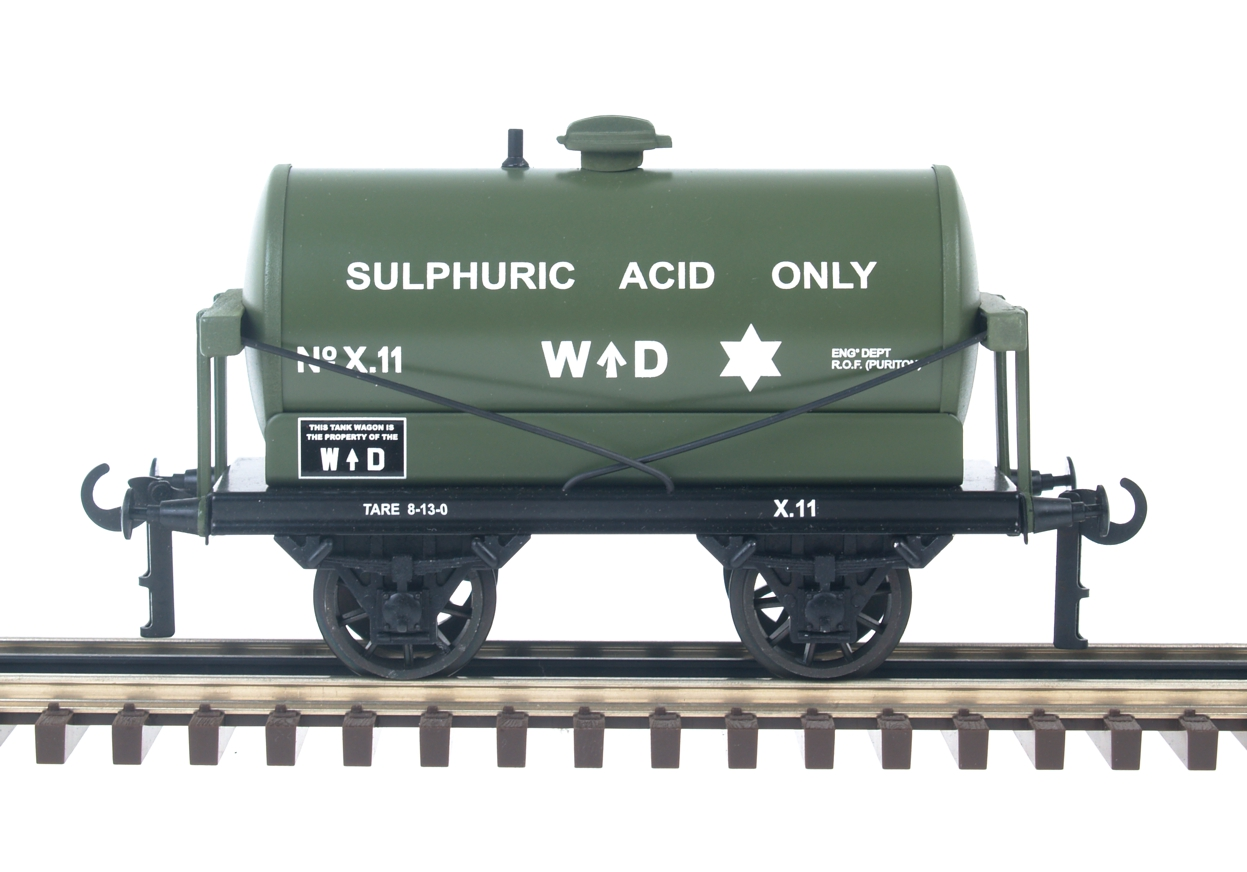 WD Sulphuric Acid 4-Wheel Tank Wagon