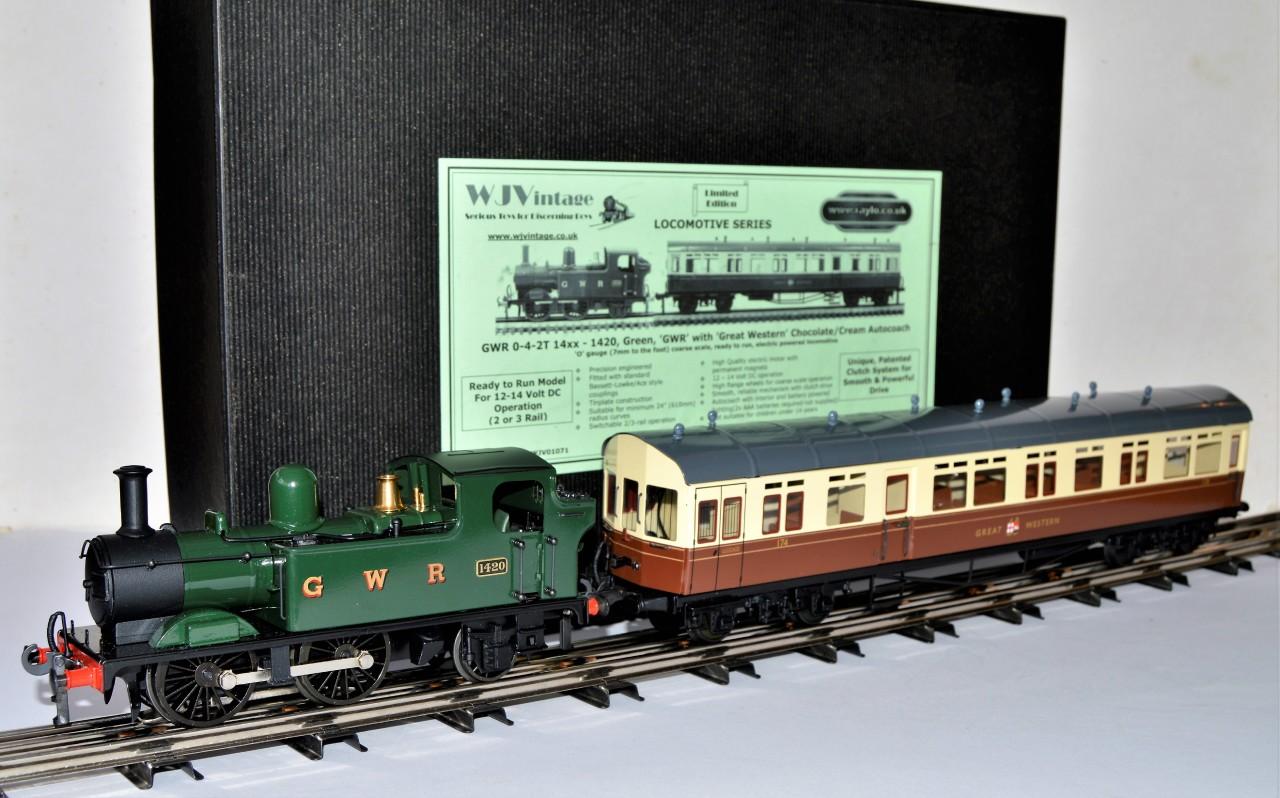 GWR 0-4-2T 48xx/14xx plus autocoaches